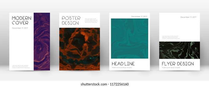 Abstract cover. Modern design template. Suminagashi marble minimal poster. Modern trendy abstract cover. Business vector illustration.