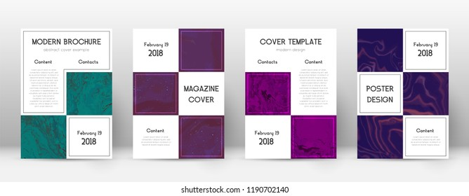 Abstract cover. Pleasant design template. Suminagashi marble business poster. Pleasant trendy abstract cover. Business vector illustration.