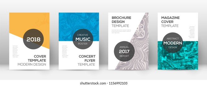 Abstract cover. Popular design template. Suminagashi marble modern poster. Popular trendy abstract cover. Business vector illustration.