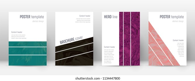 Abstract cover. Remarkable design template. Suminagashi marble geometric poster. Remarkable trendy abstract cover. Business vector illustration.