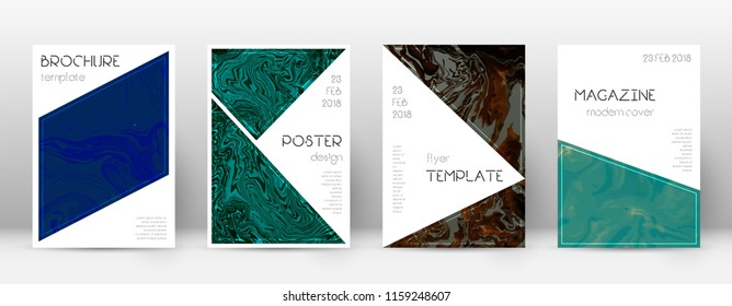 Abstract cover. Remarkable design template. Suminagashi marble triangle poster. Remarkable trendy abstract cover. Business vector illustration.