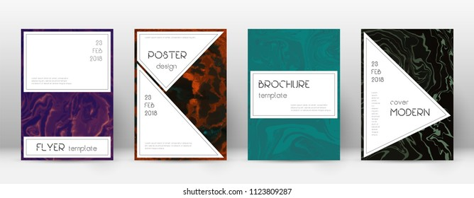 Abstract cover. Superb design template. Suminagashi marble stylish poster. Superb trendy abstract cover. Business vector illustration.