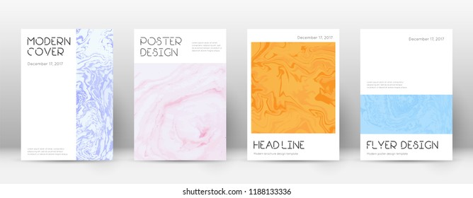 Abstract cover. Superb design template. Suminagashi marble minimal poster. Superb trendy abstract cover. Business vector illustration.