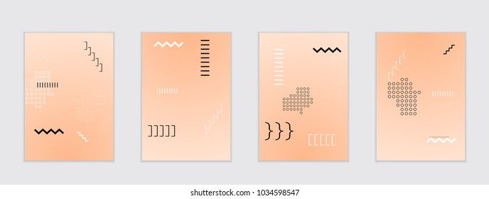 Abstract cover template with gradient design elements. Poster with geometric shapes and gradient.