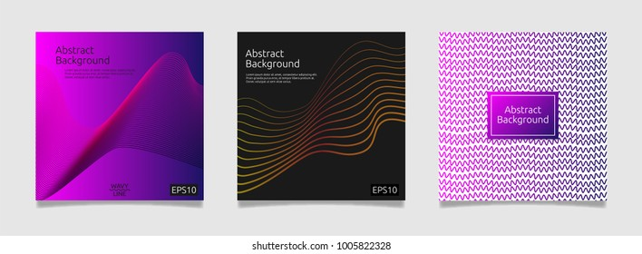 abstract cover template with line art design concept background vector illustration.