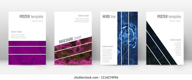 Abstract cover. Uncommon design template. Suminagashi marble geometric poster. Uncommon trendy abstract cover. Business vector illustration.