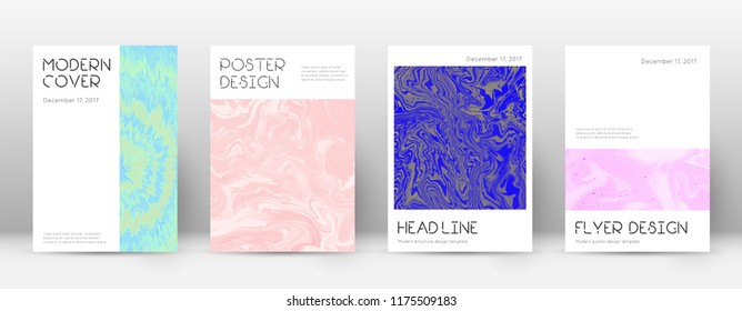 Abstract cover. Uncommon design template. Suminagashi marble minimal poster. Uncommon trendy abstract cover. Business vector illustration.