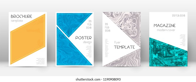 Abstract cover. Vibrant design template. Suminagashi marble triangle poster. Vibrant trendy abstract cover. Business vector illustration.