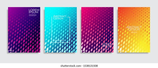 Abstract covers design. Colorful gradient vector background patterns.
