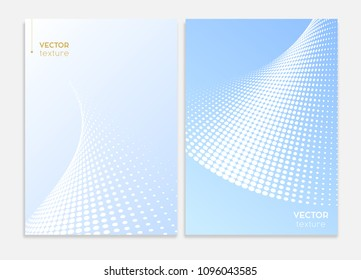 Abstract covers design. Subtle halftone gradients. Business brochure concepts. Vector graphic.