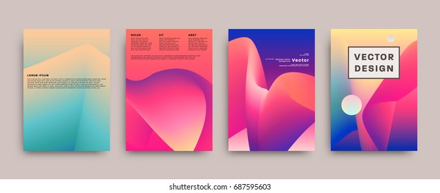 Abstract covers | Futuristic vector design | Background templates