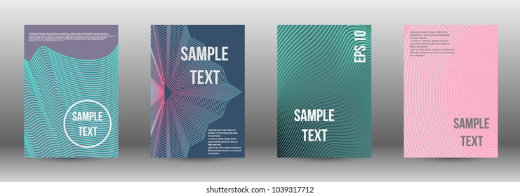 Abstract covers from lines. Modern design template. Rich design of VIP. Future futuristic template with abstract lines for banner design, poster, booklet, report, journal.