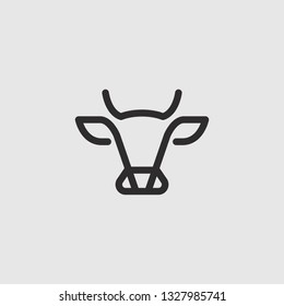 Abstract cow or bull logo design. Creative steak, meat or milk icon symbol.