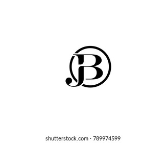 Abstract and creative alphabet letters JB, BJ, J and B logo