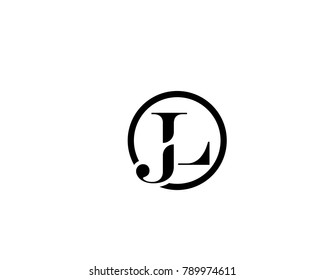 abstract and creative alphabet letters jlljj and l logo