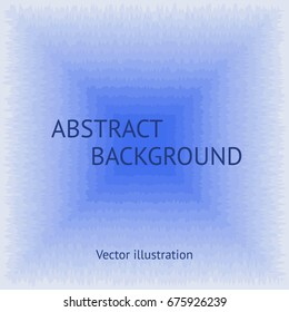 Abstract creative background. Ragged, lacerated geometric square elements in blue colors. Vector illustration of flat pattern.