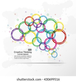 Abstract creative brain graphic