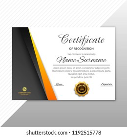 Abstract creative certificate of appreciation award template design