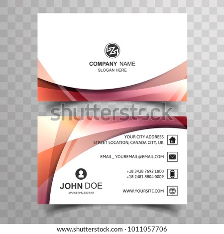 Abstract Creative Colorful Business Card Design Stock Vector