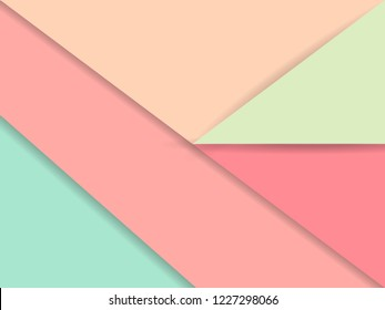 Abstract Creative concept layout template and background. Geometric   design layout. Paper art Style. For web, style blank, poster and booklet. vintage color background