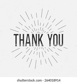 Thank you card images stock photos vectors shutterstock abstract creative concept vector design layout with text thank you for web and mobile spiritdancerdesigns Images