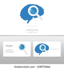 Abstract Creative concept vector logo icon idea of Brain for Web and Mobile Applications isolated on background.