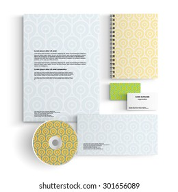 Abstract creative corporate identity template
