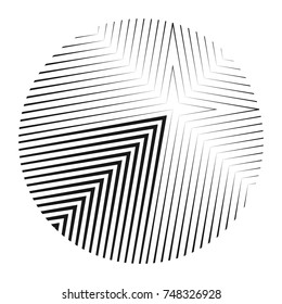 Abstract creative geometric vector background. Black and white stripes pattern for modern design.