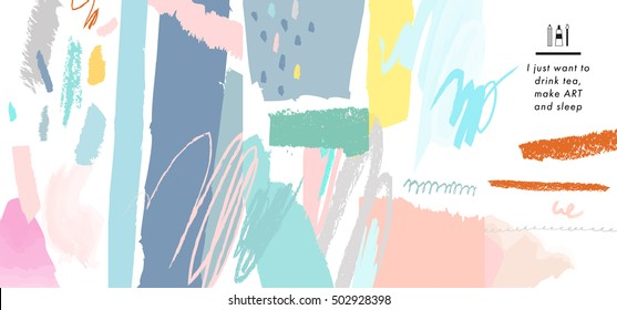 Abstract creative header. Modern artistic background. Vector. Isolated