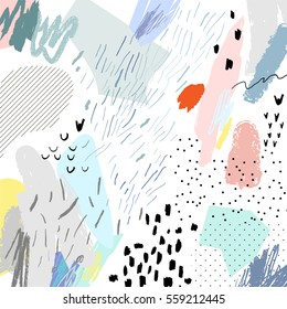 Abstract creative header. Modern artistic background. Contemporary graphic design. Vector