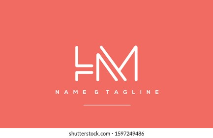 Abstract creative letter HM,MH,H and M