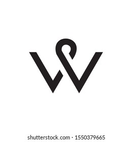 Abstract Creative Letter W Logo