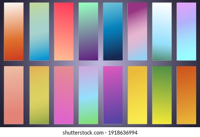 Abstract creative multicolored blurred vector background set. Minimal style texture for your art and design