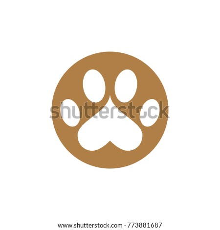 abstract creative paw icon logo template stock vector royalty free