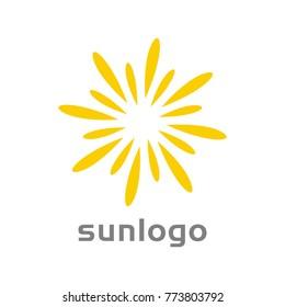 abstract creative sun logo design