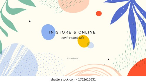 Abstract creative universal artistic template. Good for email header, social media post, AD, event and page cover, banner, background, brand identity, business card, poster and other graphic design.