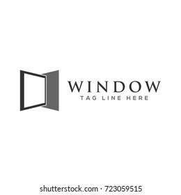 abstract creative window logo template
