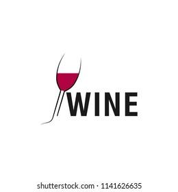 abstract creative wine logo vector