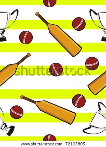 Abstract Cricket Concept Background Vector Wallpaper Stock Vector