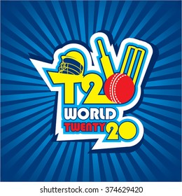 abstract cricket world cup banner or poster design