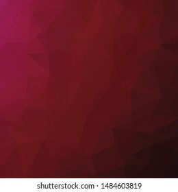 Abstract crimson polygon texture background