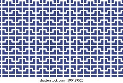 Abstract cross mosaic pattern. Vector background