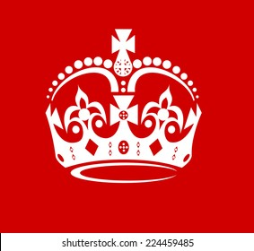 Abstract crown on a red background