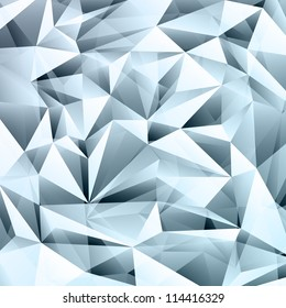 Abstract crystal background with transparency effect.