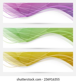 Abstract crystal wave speed line website header - polygonal pattern swoosh border. Vector illustration
