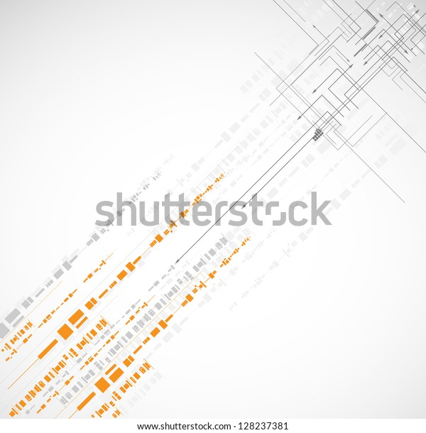 abstract cube circuit computer high technology business background