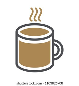 Abstract Cup Icon Vector, Flat Design