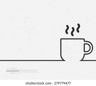 Abstract cup vector background. For web and mobile applications, illustration template design, creative business info graphic, brochure, banner, presentation, concept poster, cover, booklet, document.