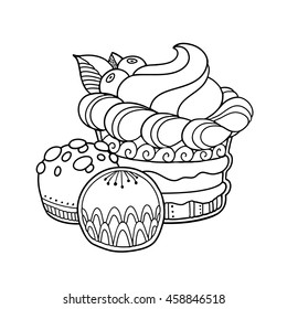abstract cupcake berries candy doodle 260nw