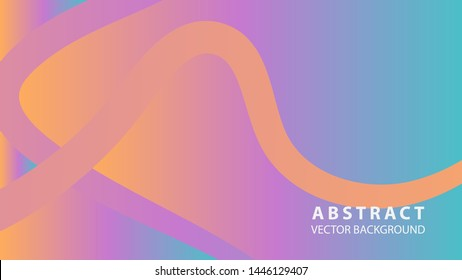Abstract curve line wave background - vector